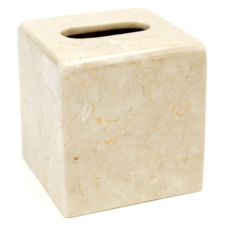 Creative Home Curvy Marble Tissue Box Holder - 74178