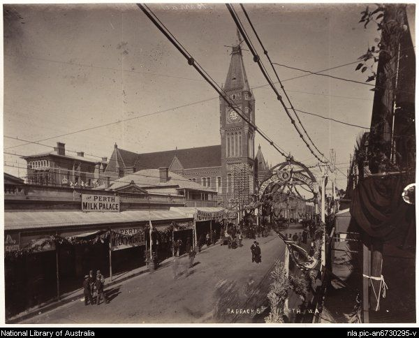 Perth - Barrack St, Perth, W.A. 1900