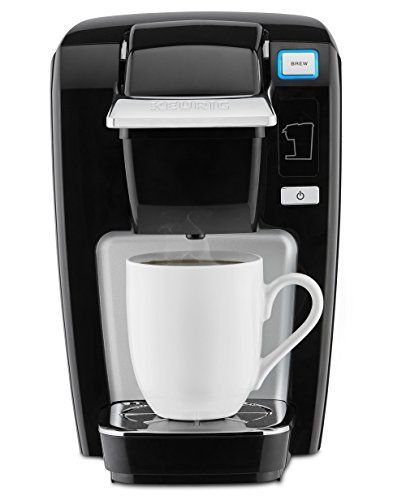 Keurig K15 Single Serve Compact K-Cup Pod Coffee Maker, Black - A small and compact single serve coffee maker that brews K-Cup pods in multiple sizes, the Keurig K15 brews a rich, smooth, and delicious cup every time with the quality you expect from Keurig. Simple touch buttons make your brewing experience stress free, and because fresh water is added for eac...