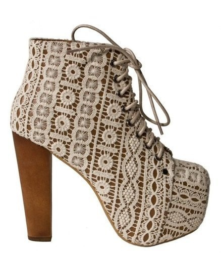 Obsessed!!!: Fashion Shoes, Crochet Shoes, Lace Heels, Summer Heels, Lace Booties, Hippie Chic, Lace Shoes, White Lace, Jeffrey Campbell