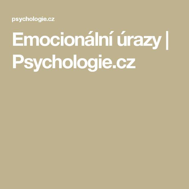 Emocionální úrazy | Psychologie.cz