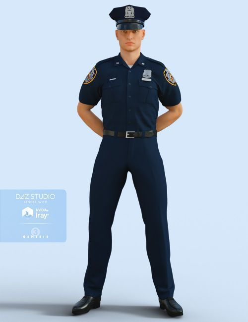 H&C Police Uniform for Genesis 3 Male(s) | 3D Clothing