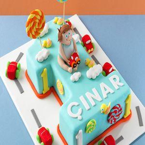 1 yaş erkek bebek doğum günü butik pasta