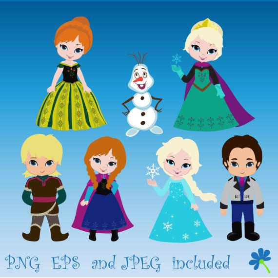 The Snow Queen,Snow Princess,Prince and Princess Digital Clipart Set for -Personal and Commercial Use- 02