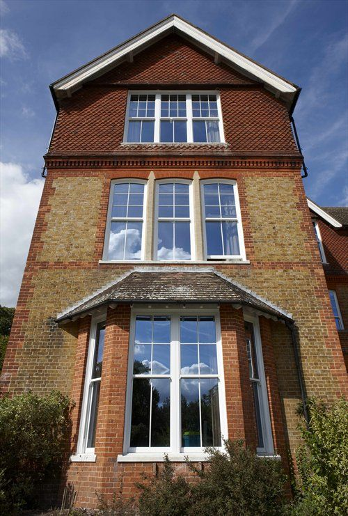 REHAU uPVC Sash windows help bring a Victorian property back to life. www.rehaubynumbers.com