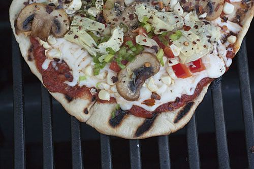 Grilled Mini Pizzas