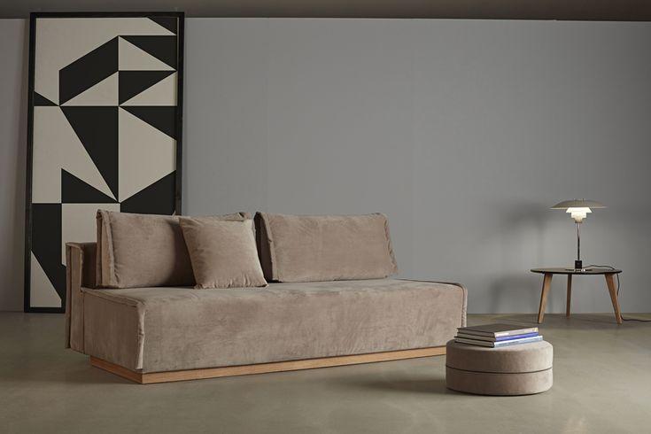 Alrik Storage Sofa in velour with velvet steel - 2018 Collection