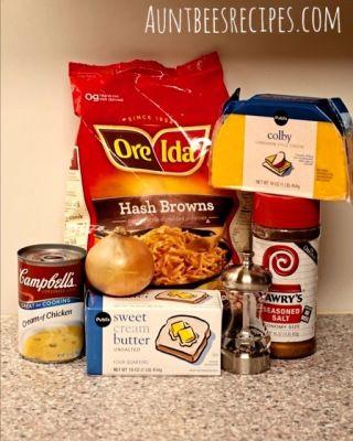 'Better Than Cracker Barrel' Hash Brown Casserole   Aunt Bee's Recipes