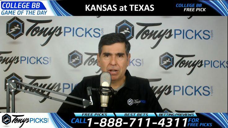 Kansas Jayhawks vs. Texas Longhorns Free NCAA Basketball Picks and Predi...