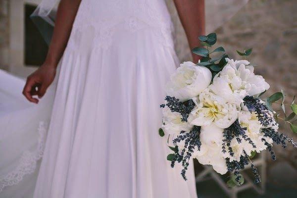 Un matrimonio lavanda e verde acqua, bouquet, lavender