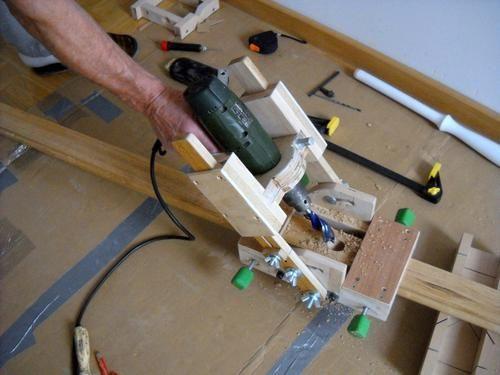 Richard's homemade drill guide