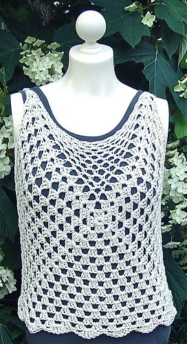 Concamerate Shell / Tunic! This pattern can be sized to any size and edged and finished in multiple ways.