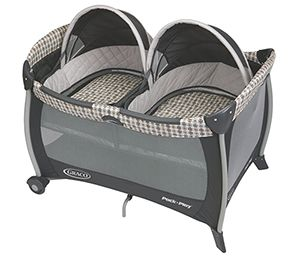 Special Convertible Crib - Many times you will find that your babies will want to take a nap after eating or playing. Your twin baby gear should therefore contain not only toys, but also an easy way to put the twins to sleep when they get tired.  Graco Pack 'N Play Playard with Twin Bassinet is a perfect choice in this case. This item is a two-in-one playard equipped with twin basinets and, best of all, it is also portable. http://babygearreviews.net/5-essential-baby-gear-for-twins/