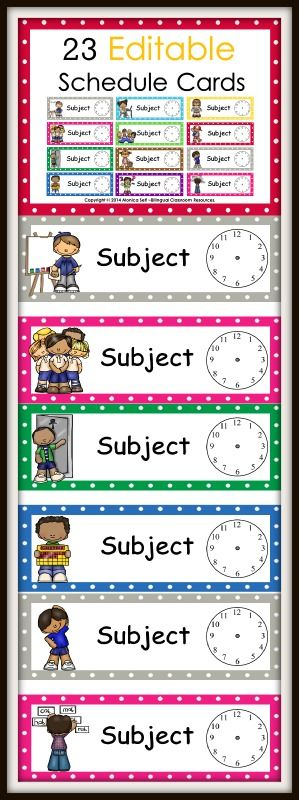 Provide your students with a visual of their day using these Editable Schedule Cards!    I have included 23 editable schedule cards (text editable only).   The best part is that this packet is editable so you can customize the cards for any subject area you would like! Simply click on each card and type the subject.
