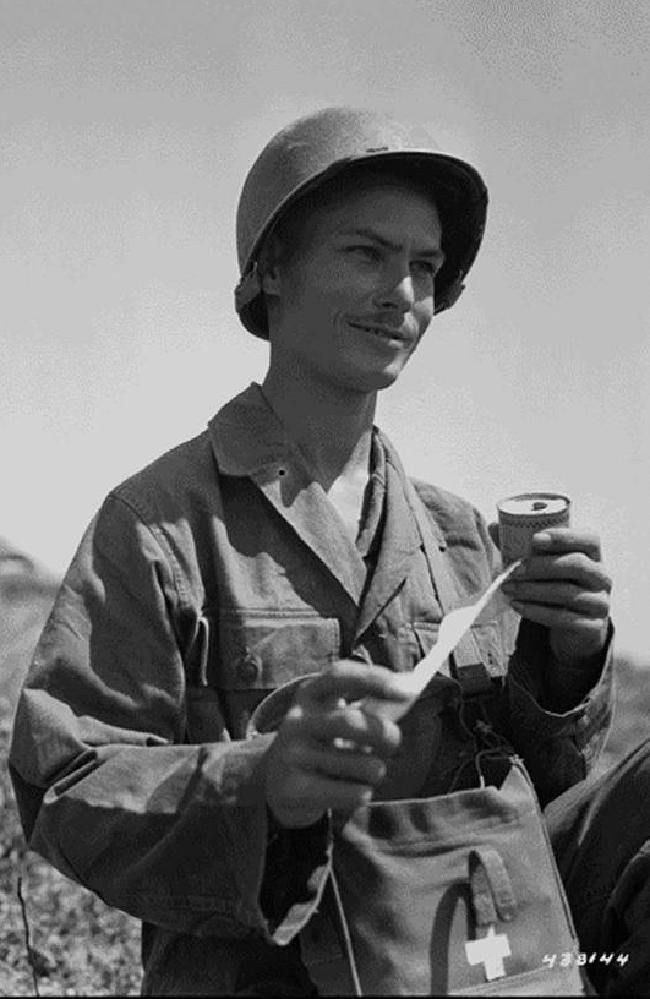 This is a picture of Desmond Doss, a decorated and esteemed Seventh-day Adventist Medic/Non-Combatant in WWII. The Church's position on non-combatancy is often misunderstood, and has posed difficulties for those who follow their faith beliefs.