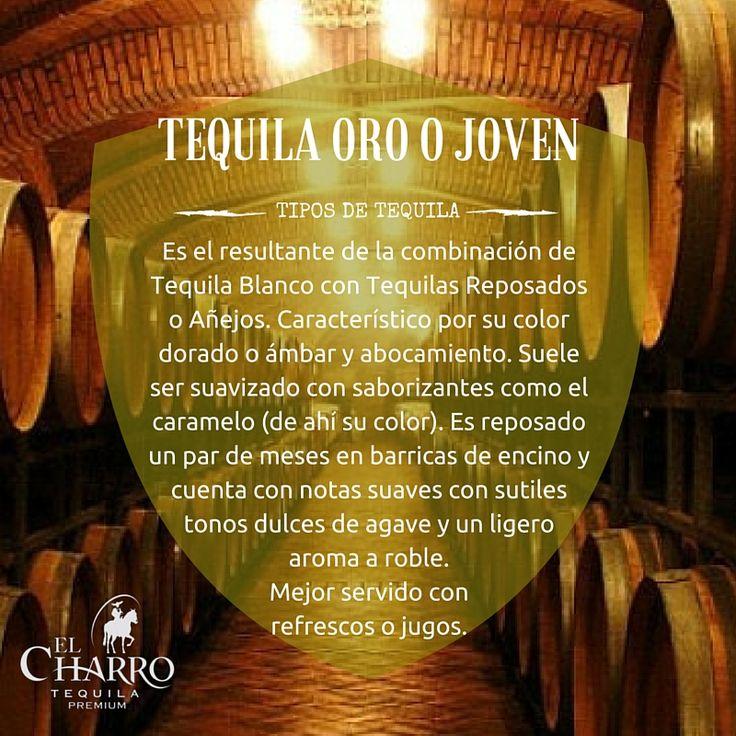 Conoce todos los tipos de tequila!!! #Tequila #Oro #Joven