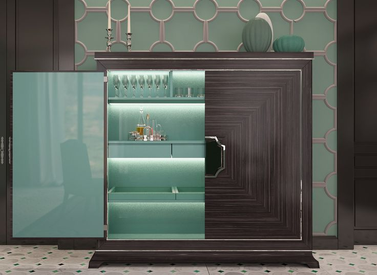 Wood and lacquered cabinet for an interior in Beijing designed by Massimiliano Raggi architetto