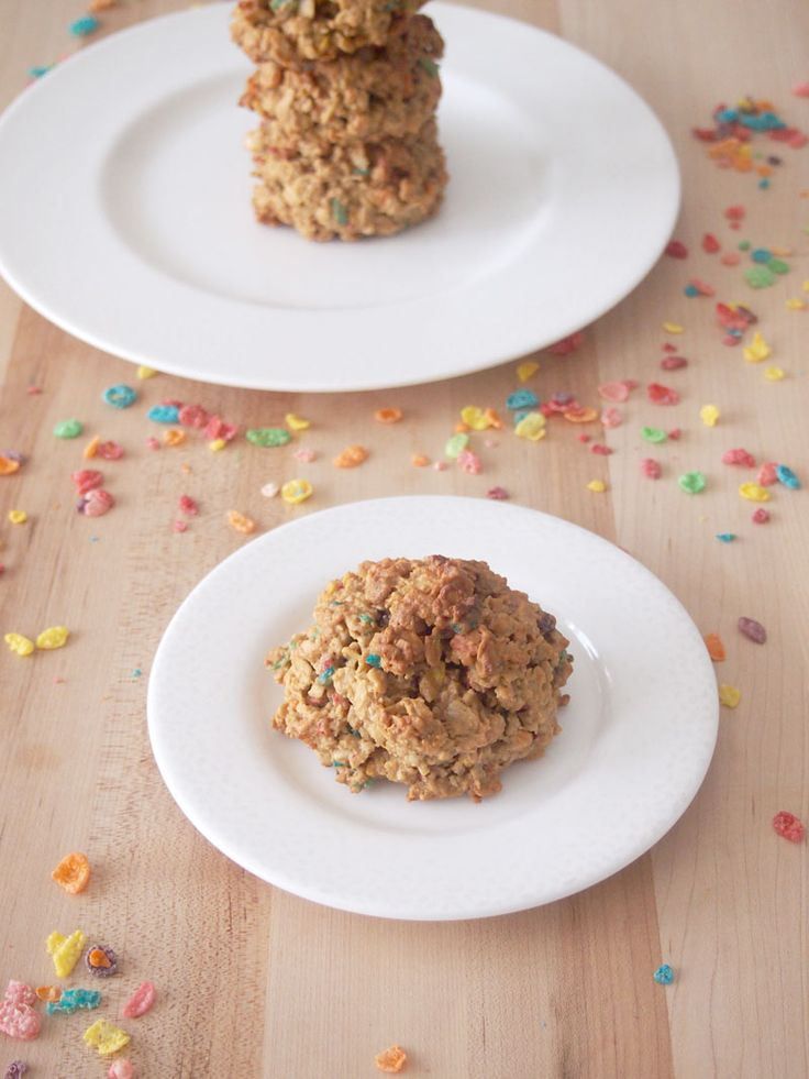 Fruity Pebbles Breakfast Cookies - Gluten Free and Healthy! #ad