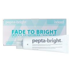 Indeed Laboratories Pepta-Bright Fade to Bright Intense Brightening Treatment 30ml $34.99. Ultra concentrated cream-serum helps to improve skin clarity while diminishing the appearance of dark spots and hyperpigmentation, leaving a more radiant skin tone.