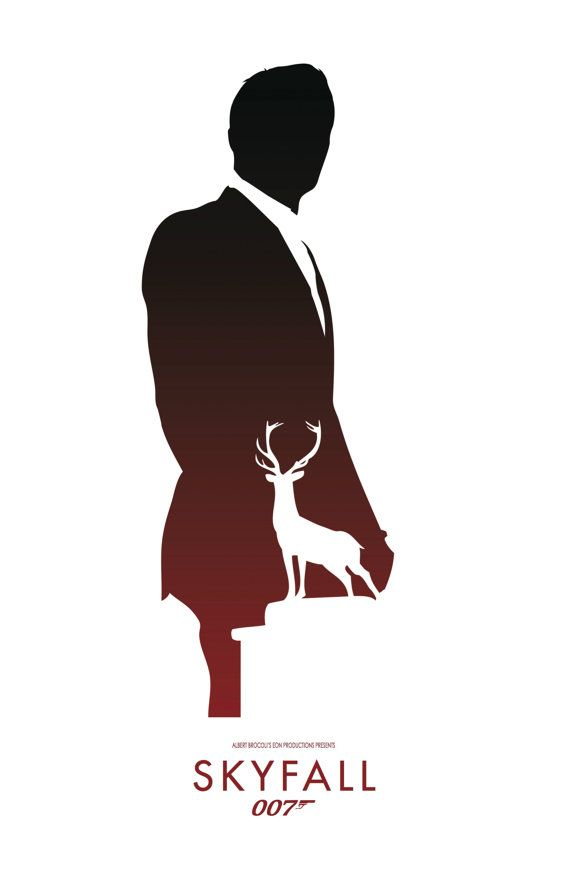 James Bond 007 Minimalist Poster - Skyfall