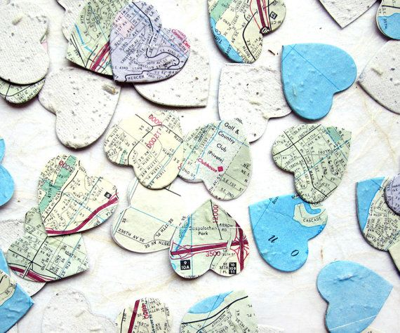 Hey, I found this really awesome Etsy listing at https://www.etsy.com/listing/170926345/100-map-paper-flower-seed-wedding-favor