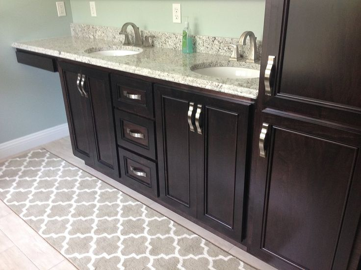 master bath tall cabinet in center of 2 sinks google search