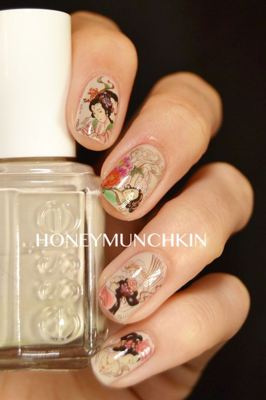 Review of Traditional Chinese Painting water decals (G074) from BornPrettyStore.com by honeymunchkin.com