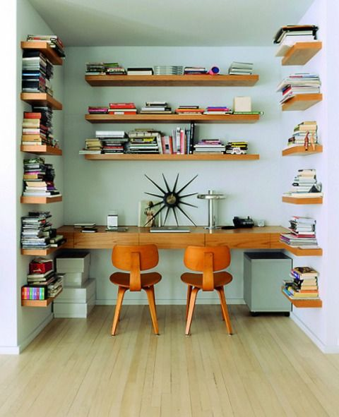 25 best ideas about orange bookshelves on pinterest teal bookshelves ikea organization and - Orange floating desk ...