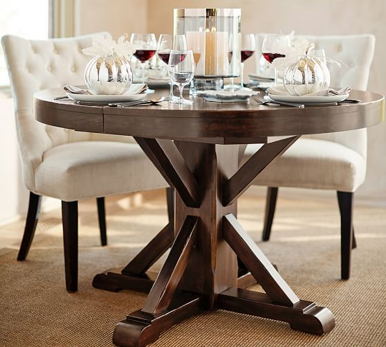 Benchwright Extending Pedestal Dining Table | Pottery Barn
