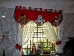 Resultado de imagen para cortinas navideñas con luces #decoraciondecocinasnavideña