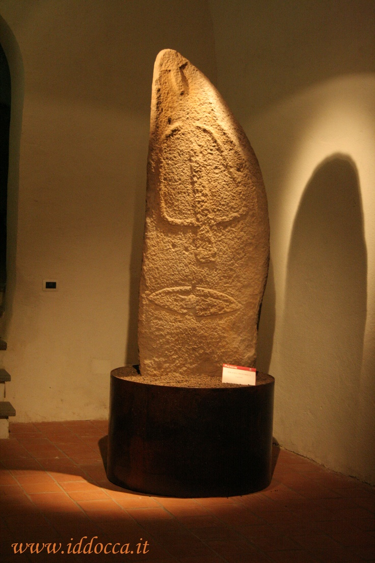 In Laconi you can visit the museum where there are menhirs like this...