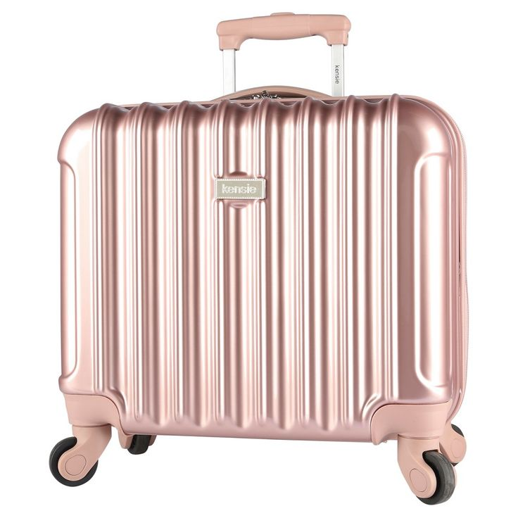 Kensie 17 Rolling Briefcase with Spinner Wheels - Rose Gold