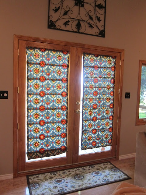 DIY nosew roman shades  R E C R E A T E  Diy window shades Patio doors Diy roman shades