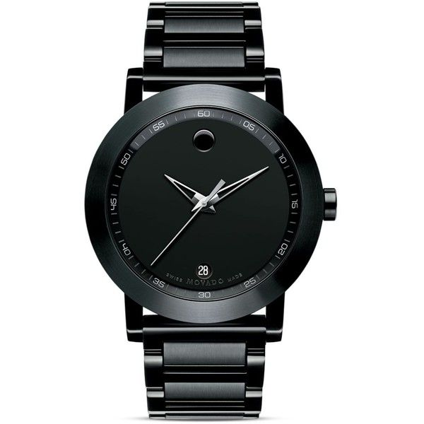 Movado Museum® Sport Stainless Steel Watch, 42mm found on Polyvore