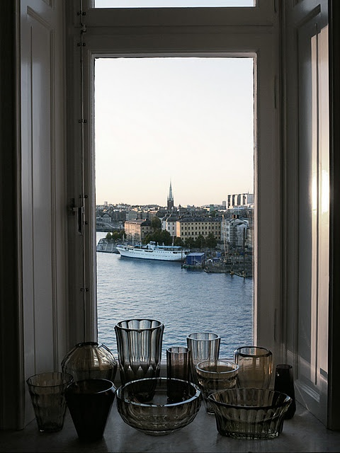 gorgeous view of StockholmGlasses Container, Stockholm Sweden, The View, Mats Gustafson, Amazing View, Sea View, Places, Swedish Home, Windows View