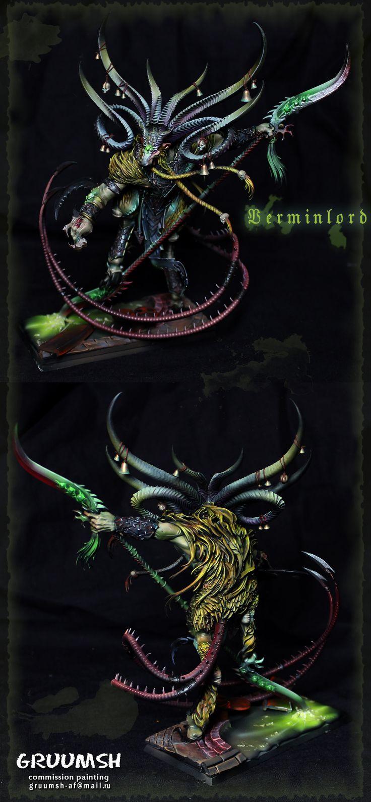 Warhammer FB | Skaven | Verminlord by Gruumsh #warhammer #ageofsigmar #aos #sigmar #wh #whfb #gw #gamesworkshop #wellofeternity #miniatures #wargaming #hobby #fantasy