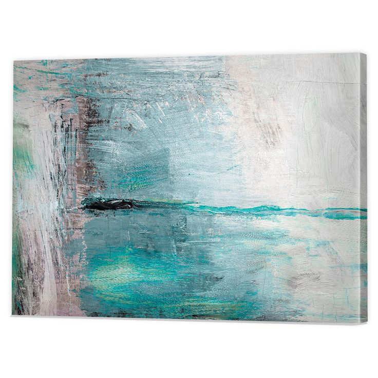 Abstract Blue Canvas Art Print | Framed Ready to Hang Watercolor Wall Prints