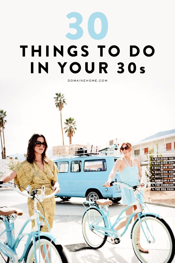 30 things that will make a great age even greater.... THIS YEAR!!