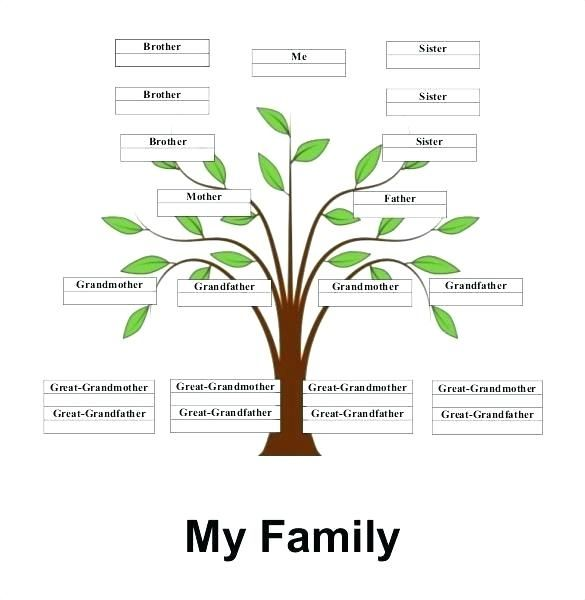 Simple Family Tree Template Printable Free Word Excel 8 Free Family Tree Template Family Tree Printable Family Tree Template