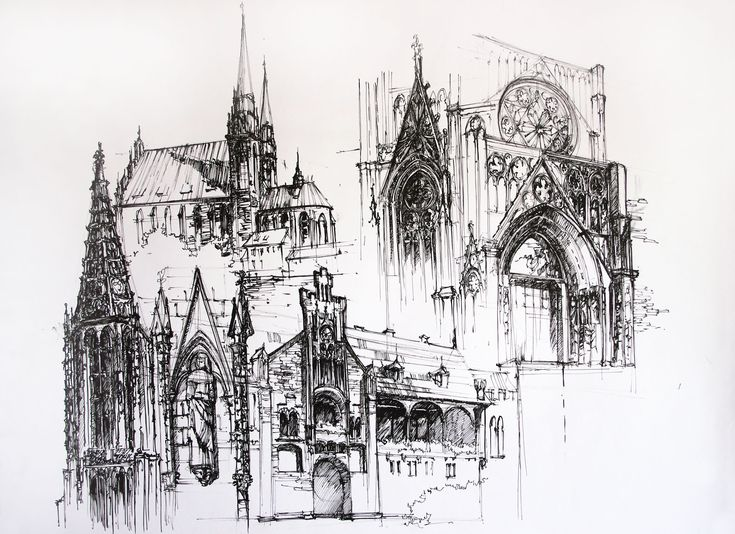 The 25 best Gothic architecture drawing ideas on Pinterest