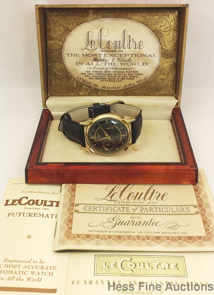 Awesome Vintage LeCoultre Futurematic Power Reserve Mens Watch Box Papers 	 #LeCoultre