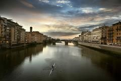 Sculling on the Arno