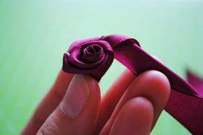 La Petite Anne: DIY růže ze stuhy