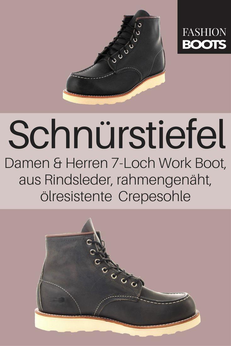 Red Wing Shoes MOC TOE 8890 Charcoal Schnürstiefel - grau | Klassischer Damen und Herren 7-Loch Work Boots aus der Heritage Work Kollektion