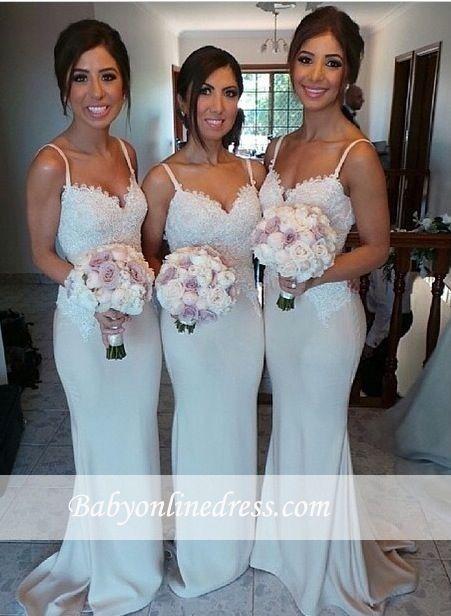 Elegante Brautjungfernkleider Lang Günstig Mit Spitze Meerjungfrau Brautjungfernkleid Hochzeit_Brautkleider,Abiballkleider,Abendkleider