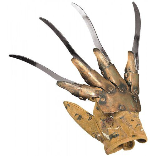 Nightmare on Elm Street Deluxe Freddy Krueger Metal Glove   Nightmare on Elm Street Deluxe Freddy Krueger Metal Glove The Deluxe Freddy Metal Glove is rendered in highly realistic detail. The glove is made with real metal and will work wonderfully with one of our Freddy costumes (sold separately). One size fits most adults. This is an officially licensed Freddy & A Ni  http://www.beststreetstyle.com/nightmare-on-elm-street-deluxe-freddy-krueger-metal-glove/