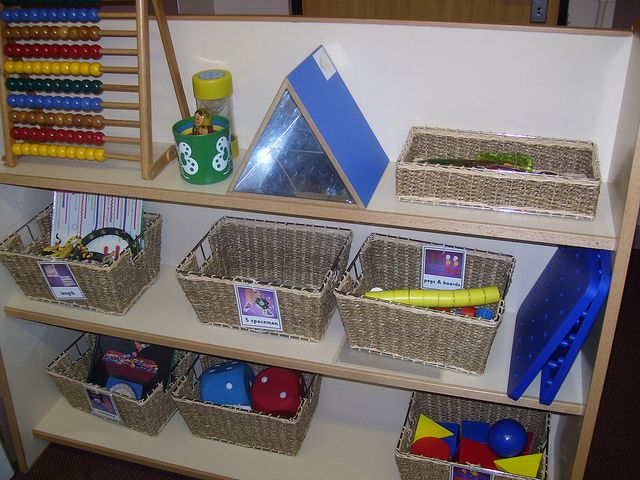 Maths Area in preschool. Love this.