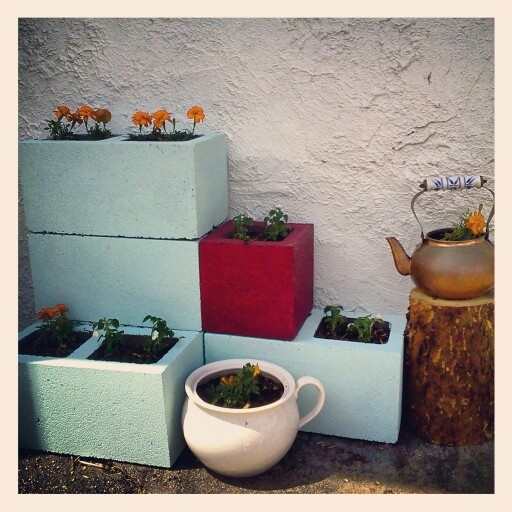 37 best images about cinder block projects on pinterest - Painting cinder blocks for garden ...