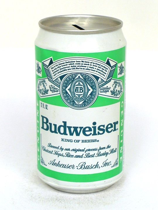 10-12oz Tab Tops Budweiser Lager Beer (Test) Anheuser Busch, Inc. Fairfield California United States of America