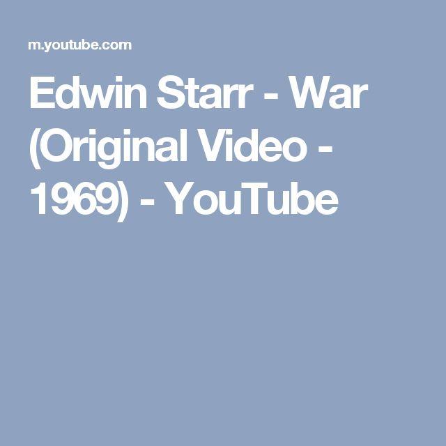 Edwin Starr - War (Original Video - 1969) - YouTube